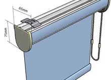 rod or wand operation of vertical blinds