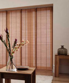 Panel Blinds - Broad fabric or woven wood panels