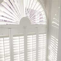 Hard wood shaped shutters from brite blinds covering brighton, hove and worthing