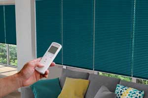 Electric Pleated, plisse and duette blinds