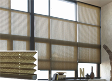 pleated plisse blinds