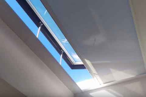 Electric SHY Rooflight ZIP blinds
