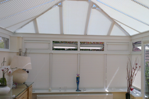 duette and pleated blinds for conservatories