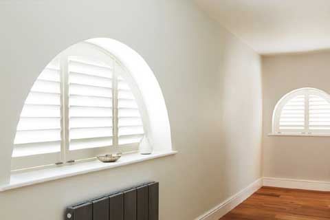 shaped shutters, arched shutters, apex shutters in hove east sussex