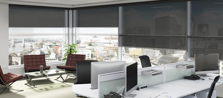 commercial screen roller blinds