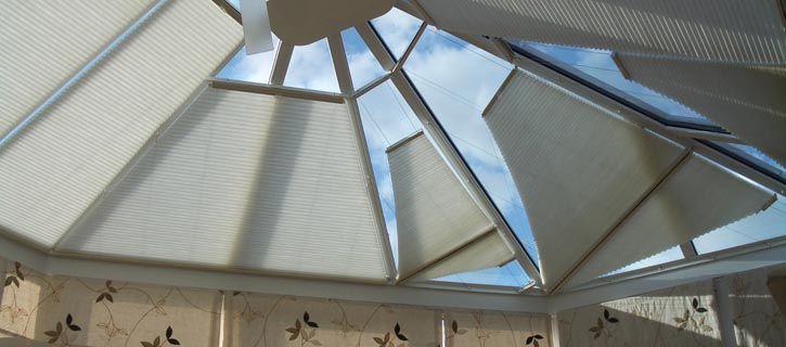 Conservatory shaped roof blinds