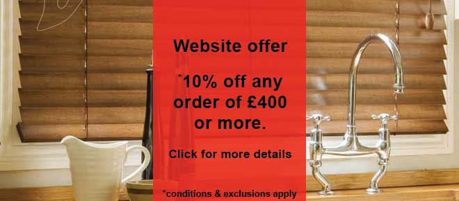 10% offer if you spend £400 with brite blinds