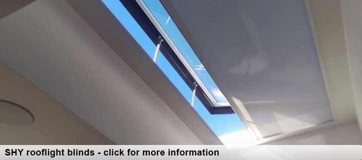 SHY rooflight blinds from brite blinds