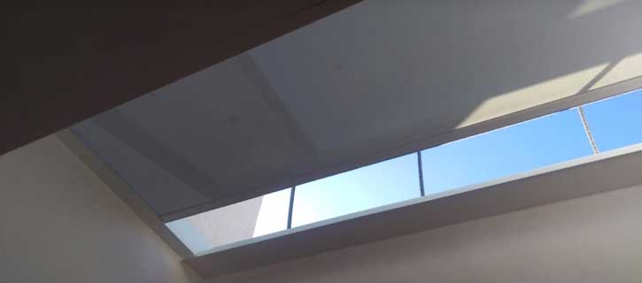SHY ZIP rooflight blinds