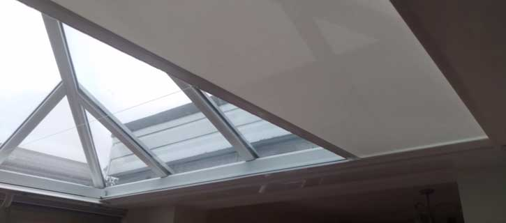 SHY ZIP conservatory rooflight blinds