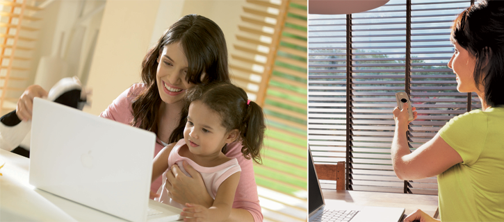 easy control of the light with motorised venetian blinds