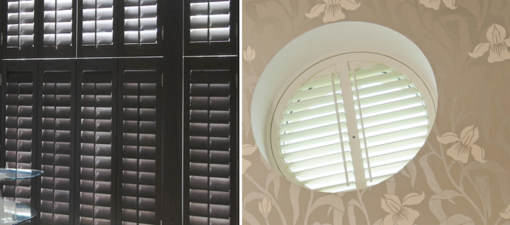 shaped round Shutters
