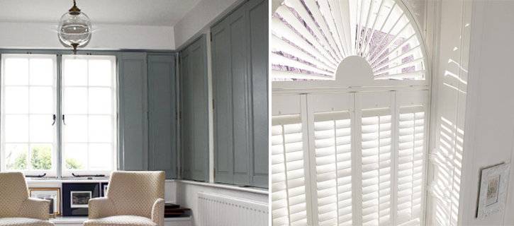 shaped shutter from brite blinds